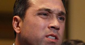 "U.S. Rep. Michael Grimm (R-NY) was caught on a television camera saying to a reporter, ""I'll break you in half,"" after he was asked in an interview about a federal investigation into campaign finance violations. Photograph: Reuters"