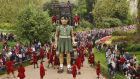French Theatre company, Royal De Luxe,  performing street theatre  on the streets of London.   Photograph:  Jim Dyson/Getty Images