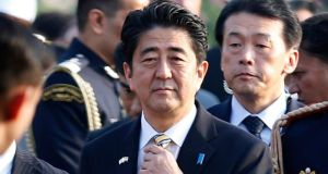 Japanese prime minister Shinzo Abe has been accused by Chinese UN ambassador Liu Jieyi of 'closing the door to dialogue with China'. Photograph: Ahmad Masood/Reuters