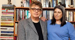 Jean Hanff Korelitz and Paul Muldoon. Photograph: Hiroke Masuike/New York Times
