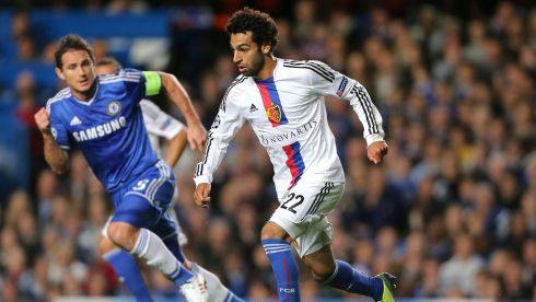 Done deal: The Egyptian winger Mohamed Salah caught the eye of Chelsea when he scored against them for Basel in this year's Champions League having done the same in the Europa League last season. He joins from the Swiss side for a fee of more than €12 million.  Photograph: Nick Potts/PA Wire
