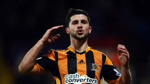 Done deal: The Irish international strike Shane Long has already made his debut for Hull following a long-expected €8 million move from West Brom. He and new strike partner Nikica Jelavic, signed from Everton, drew a blank as Hull faced relegation rivals Crystal Palace on Tuesday night. Photograph: Adam Davy/PA Wire
