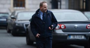 Sgt Maurice McCabe arriving for the Public Accounts Committee meeting in Leinster House today. Photograph: Cyril Byrne/The Irish Times