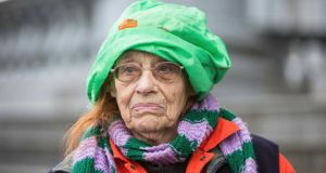 Struggle for peaceful means: Margaretta D'Arcy at Ennis District Court last  December. Photograph: Eamon Ward