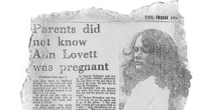 The news story in The Irish Times on February 22nd, 1984. The photograph is of Mary Maguire, Ann Lovett's best friend