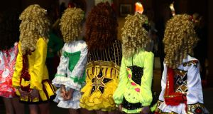 Different styles of dress at An Comhbhail World Irish Dancing Championships  in 2013. Photograph: Cyril Byrne/The Irish Times