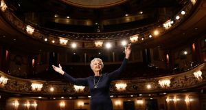 Angela Lansbury at the Gielgud Theatre in London, where she will star in Noël Coward's Blithe Spirit, opening today. Photograph: Stefan Wermuth/Reuters