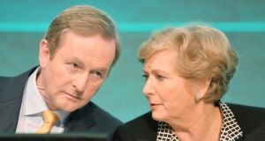 Taoiseach Enda Kenny with Minister for Children  Frances Fitzgerald at the official launch of the Child and Family Agency Tusla, in Dublin Castle yesterday. Photograph: Alan Betson / The Irish Times