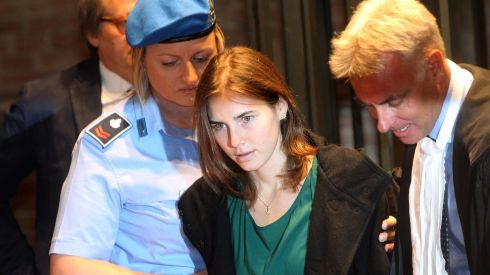 Amanda Knox arrives in court for an appeal trial session in Perugia over her conviction for the murder of Meredith Kercher in this October 3rd, 2011 photo. Photograph: Giorgio Benvenuti/Reuters