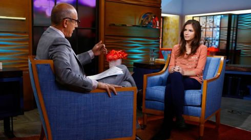 Amanda Knox is interviewed by Matt Lauer on the NBC News Today show in New York, on September 20th, 2013. Photograph: Peter Kramer/NBC/Reuters