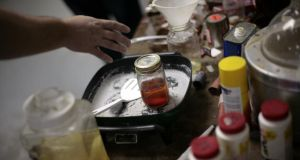 Shake and bake: a mock home lab that the Drug Enforcement Administration uses for training. Photograph: Chuck Kennedy/MCT via Getty