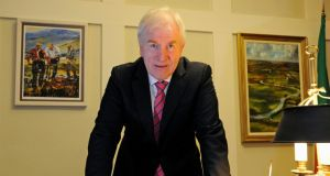 Minister for Arts: Jimmy Deenihan would be more exercised by the turf cutters in Kilteevan than the funded arts sector. Photograph: Dave Meehan