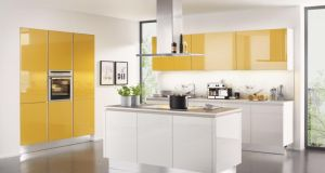 Curry is the colour to add spice to your 2014 kitchen, according to Orla McNally, of Kube Kitchens (01- 2973064, kubekitchens.ie). This high gloss NovaLack design in curry and rice white gloss features handle-less doors. The design measures about six linear metres and retails at about €10,000. The price includes the laminate worktop and task lighting seen here. Kube Kitchens is offering Irish Times readers who present today's column  this new SS14 design at a 10 per cent discount. Offer ends February 28th.