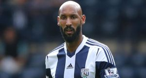 "West Brom striker Nicolas Anelka: has asked the Football Association to ""lift the charges I am accused of"" following his quenelle goal celebration, stating in a Facebook message that ""I am neither anti-Semitic or racist"". Photograph: Nick Potts/PA"
