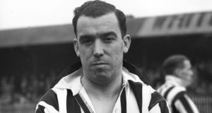 England international and former Everton footballer Dixie Dean in his Notts County strip in 1938. Photo: Keystone/Getty Images