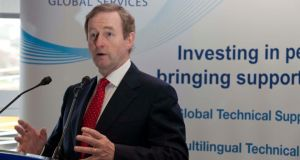 Taoiseach Enda Kenny announces the creation of 50 new jobs at the IT global services company Westbourne IT Global Services in Cork yesterday