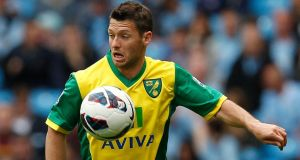 Wes Hoolahan was linked with West Brom and Newcastle earlier in the transfer deadline day but neither came up with the fee Norwich wanted to let him go. Photograph: Dave Thompson/PA Wire