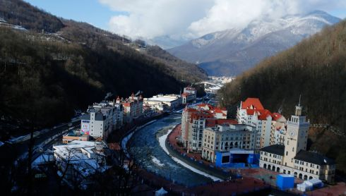 The ski resort of Rosa Khutor. Photograph: Mike Blake/Reuters