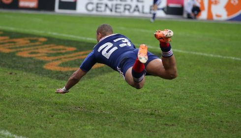 But Gael Fickou scores a try to win the match. Photograph: Billy Stickland/Inpho