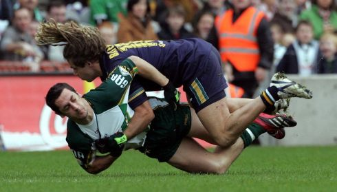 Galvin clashes with Chance Bateman in the International Rules series in 2006. Photograph: Eric Luke/The Irish Times