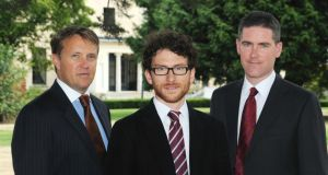(From left) Wayne Byrne, Dr Eoin Syron and Prof Eoin Casey