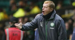 Celtic manager Neil Lennon. Photograph: Danny Lawson/PA Wire