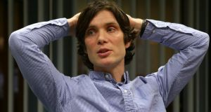 Actor Cillian Murphy at NUI Galway for the screening of Broken, which was followed by a conversation with the young audience on issues raised in the film. Photograph: Joe O'Shaughnessy