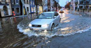 Severe flooding South Mall, Cork city this morning. Photograph: Daragh McSweeney/Provision