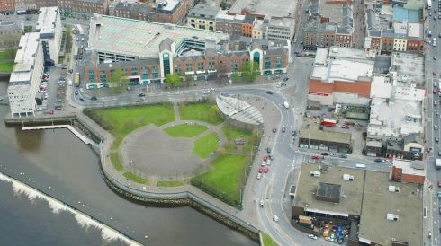 Arthurs Quay Park and the Arthurs Quay shopping centre. Photograph: Liam Burke/Press 22