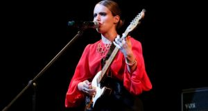 Anna Calvi: out to prove that her stunning Mercury-nominated debut wasn't a one-off. Photograph: Andreas Rentz/Getty Images