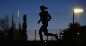 Niamh O'Gorman who organises group runs in the dark in the Phoenix Park. Photograph: Alan Betson