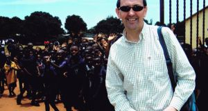 Seán Flynn covering education for The Irish Times in Zambia