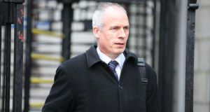 Tony Delaney, Assistant Data Commissioner, leaving court yesterday after hearing over data protection offences by three companies. Photograph: Collins Courts