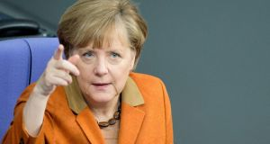 "German chancellor Angela Merkel, criticised for the ""drastic treatment"" she forced on euro crisis countries.  Photograph: Maurizio Gambarini/EPA"