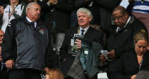 Joe Kinnear (centre) has resigned as Newcastle's director of football.
