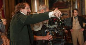 Behind the camera: directing his film The Invisible Woman, in which he plays Charles Dickens