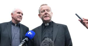 Coadjutor Archbishop of Armagh, Eamon Martin, (right) has said the failure of the Haass talks process has undermined the belief that politics can fix difficult problems. Photograph: Dara Mac Dónaill/The Irish Times.