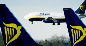 Ryanair one of Iseq's best performers climbing 1.07% to close at €6.80. Photograph: Ian Waldie/Getty Images