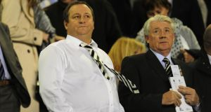 Newcastle owner Mike Ashley  and Joe Kinnear