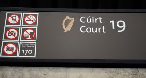 Court 19 at the  at the Dublin Circuit Criminal Court  where former executives of Anglo Irish Bank, Sean FitzPatrick, Pat Whel and and  William Mc Ateer go on trial today on 16 charges each of allegedly unlawfully providing financial assistance to individuals for the purpose of buying shares in the bank in 2008. The case is being heard by Judge Martin Nolan before a jury of eight men and seven women.  Photograph: Cyril Byrne/The Irish Times