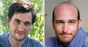 Hostages in Syria: French photographer Pierre Torres (left) and French reporter Nicolas Henin. Photographs: Janine Haidar/Chris Huby/AFP/Getty Images