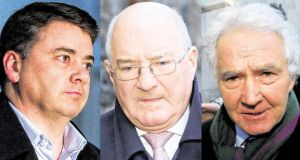 Pat Whelan, William McAteer and Seán FitzPatrick leaving the Circuit Criminal Court in Dublin yesterday. Photograph: PA The trial of former Anglo Irish Bank directors Pat Whelan (left), William McAteer (centre) and Seán FitzPatrick is continuing at Dublin Circuit Criminal Court.