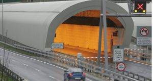 The entrance to the port tunnel heading towards the port from the M50. Photograph: Alan Betson/The Irish Times
