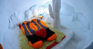 A double room at the Igloo Hotel on the mountain. Photograph: Igloo Hotel