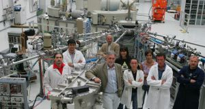 Research team at the Italian Institute for Nuclear Physics. Photograph: NFN