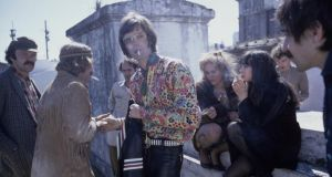 Peter Fonda, Dennis Hopper and others on the Easy Rider shoot. Photograph: Susan Wood