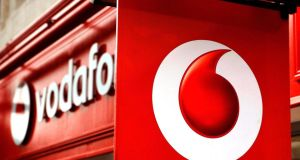 Vodafone climbed 3.7 per cent yesterday after reporting a smaller drop in service revenue than analysts had predicted. Photograph: PA/PA Wire