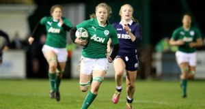 Claire Molloy, Ireland's openside flanker, has been a constant factor at the breakdown. Photograph: Dan Sheridan/Inpho.