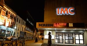 The new front of the Screen cinema on Townsend Street. Photograph: Dara Mac Dónaill