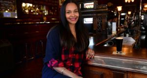 Samantha Mumba in the Long Hall, South Great George's Street, Dublin. Photograph: Brenda Fitzsimons